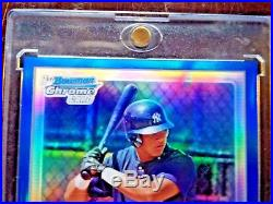 #001 /150 Ny Yankees Gary Sanchez 2010 Bowman Chrome Auto Blue Ref Rc Rookie #1