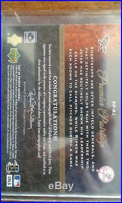 07 Derek Jeter Cal Ripken Jr Dual Auto Card Ud Premier Pairings 1/25