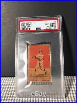 1920 W516-1 #1 Babe Ruth Hand Cut Psa Authentic New York Yankees Red Sox Hof