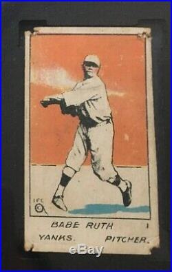 1920 W516-1 #1 Babe Ruth Yankees Rare Hof Sgc Authentic