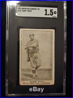 1921 American Caramel E121 Babe Ruth SGC 1.5