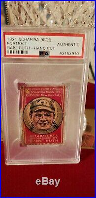 1921 Schapira Bros. Babe Ruth With Arrows psa Authentic. Rare, beautiful card