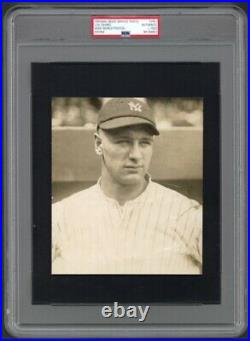 1923 Lou Gehrig Rookie Portrait Possibly Earliest Yankees Photo PSA/DNA Type 1