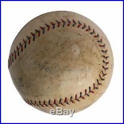 1926 New York Yankees Team Signed Baseball Babe Ruth & Lou Gehrig JSA COA 30 Sig
