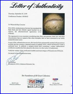 1927-28 Babe Ruth Signed Baseball AUTO PSA/DNA