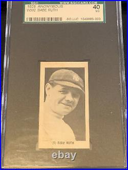 1928 W502 BABE RUTH One Bagger Back! Graded SGC 3. NEW York Yankees