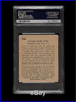 1932 BABE RUTH 1932 US Caramel PSA 8 AMAZING
