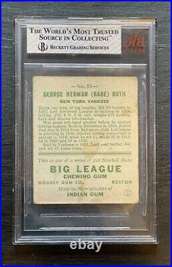 1933 GOUDEY BABE RUTH #53 BVG 2 Yellow, excellent Centering