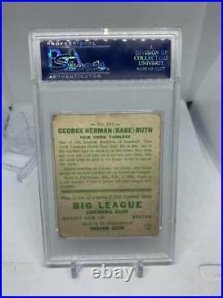 1933 GOUDEY Babe Ruth PSA 1