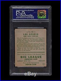 1933 GOUDEY LOU GEHRIG #92 PSA 8 q