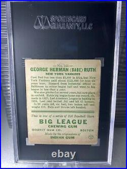 1933 Goudey #144 Babe Ruth Baseball Card Graded SGC 2.5 YANKEES HOF BEAUTIFUL
