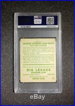 1933 Goudey #144 Babe Ruth New York Yankees HOF PSA 2 GOOD