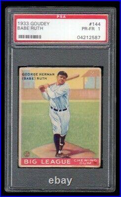 1933 Goudey #144 Babe Ruth PSA 1 PR-FR MUCH NICER THAN GRADE