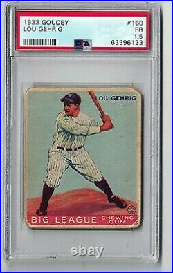 1933 Goudey #160 Lou Gehrig PSA 1.5 Graded