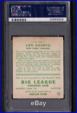 1933 Goudey #160 Lou Gehrig Yankees Vg PSA 3