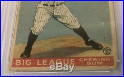 1933 Goudey #92 Lou Gehrig Psa 3