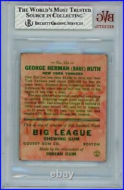 1933 Goudey Babe Ruth #144 BVG 2 P916