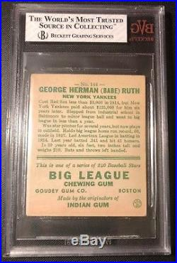 1933 Goudey Babe Ruth #144 Original BVG 4 Beckett Vintage Grading VG-EX