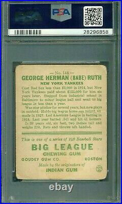 1933 Goudey Babe Ruth #144 PSA 1 Amazing Color And Eye Appeal