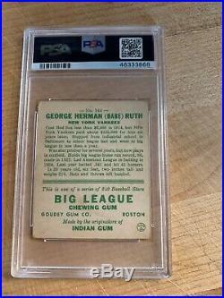 1933 Goudey Babe Ruth #144 PSA 3