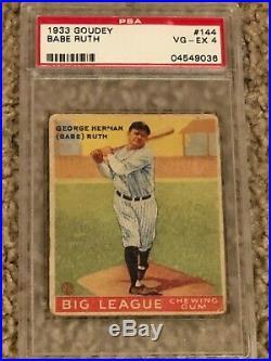 1933 Goudey Babe Ruth #144 PSA 4 VG-EX