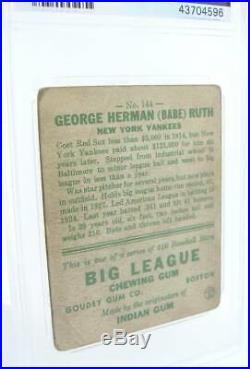 1933 Goudey Babe Ruth #144 Psa Fr 1.5