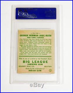 1933 Goudey Babe Ruth #144 Rookie Yankees Set Break PSA 5 DA028711