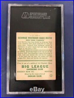 1933 Goudey Babe Ruth #144 Sgc 60 Ex 5