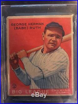 1933 Goudey Babe Ruth #149 New York Yankees HOF BVG 2.5 GD-VG NICE