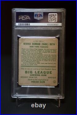 1933 Goudey Babe Ruth #149 PSA 1