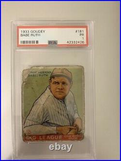 1933 Goudey Babe Ruth 181 PSA 1