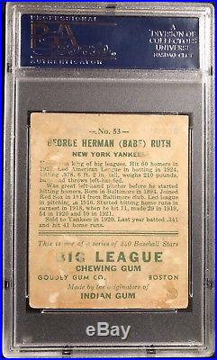 1933 Goudey Babe Ruth #53 PSA 2! Centered! Eye Appeal