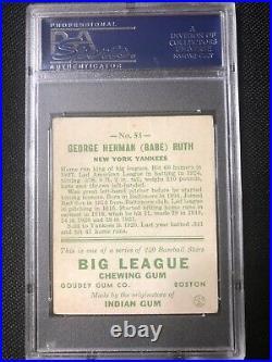 1933 Goudey Babe Ruth #53 PSA 2 Good