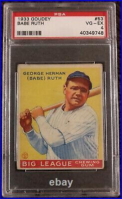 1933 Goudey Babe Ruth #53 PSA 4 VG-EX