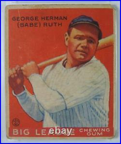 1933 Goudey George Herman Babe Ruth New York Yankees #149 Baseball Card PSA 1