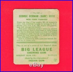 1933 Goudey George Herman (babe) Ruth # 149