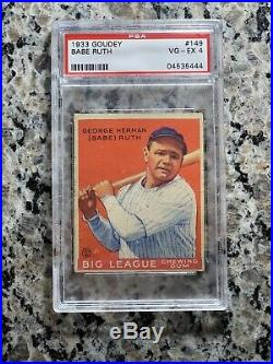 1933 Goudey Red Babe Ruth #93 PSA 4 VGEX (PMJS)