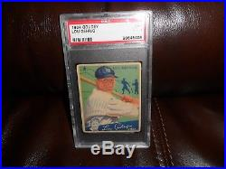 1934 Goudey Lou Gehrig #61 New York Yankees Psa 3 Nicely Centered