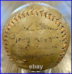 1934 Yankees Team Signed Baseball, Babe Ruth, Lou Gehrig. 22 Autograph. PSA
