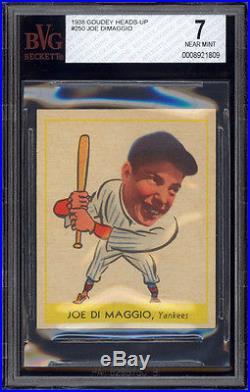 1938 Goudey Heads Up 250 Joe Dimaggio Rookie Card Bvg 7
