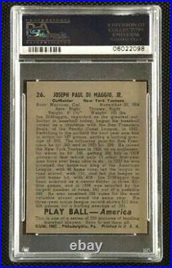 1939 Play Ball #26 Joe DiMaggio PSA 8 NM-MT New York Yankees