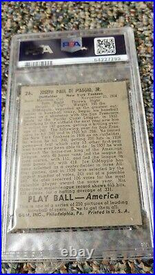 1939 Play Ball Joe DiMaggio #26 Yankees PSA 1.5
