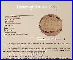 1947 Babe Ruth Large Bold Single Signed Baseball Yankees HOF JSA & SGC LOA