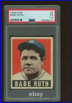 1948 Leaf #3 Babe Ruth PSA 1.5 New York Yankees CENTERED GREAT EYE APPEAL