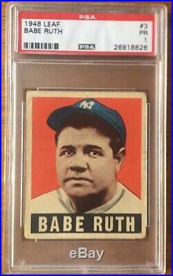 1948 Leaf #3 Babe Ruth PSA 1 POOR