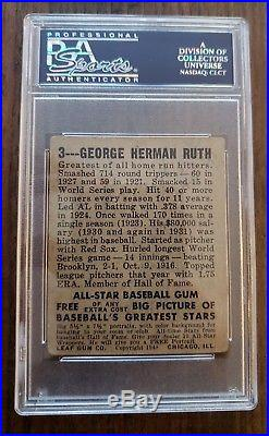 1948 Leaf Babe Ruth PSA Authentic Altered
