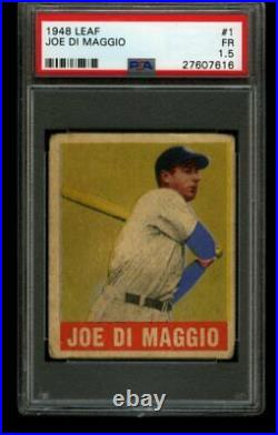 1948 Leaf JOE DIMAGGIO Yankees #1 PSA 1.5