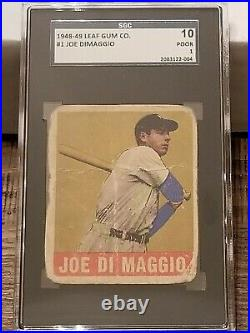 1948 Leaf JOE DiMAGGIO #1, SGC 1