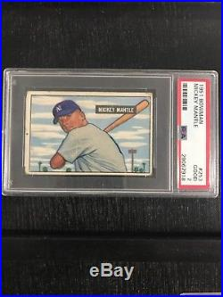 1951 Bowman Mickey Mantle Rookie Psa 2 Must Have For Your