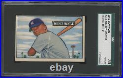 1951 Bowman #253 MICKEY MANTLE SGC 2 Yankees HOF RC Rookie Card